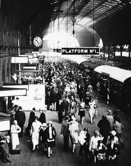 Platform 1 at Paddington Station, 1929