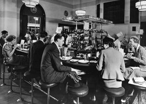 Quick Lunch and Snack Bar at Paddington Station, 1936