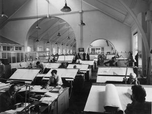 Swindon Works Drawing Office, c.1959