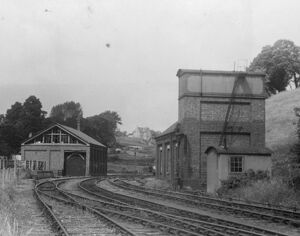 Tetbury Goods Shed and Engine Shed, c1940s