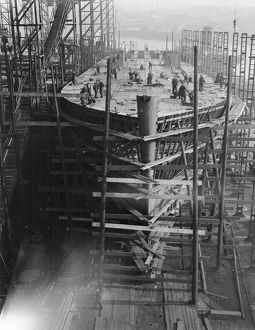 Ferry construction for the Southern Railway, Tyneside February 1