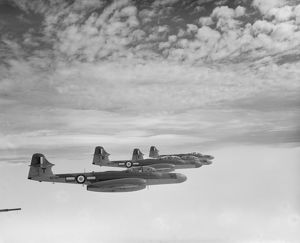 Gloster Meteor NF.14 aircraft of 152 Squadron, 1955