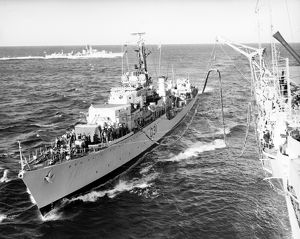HMS Broadsword receiving fuel