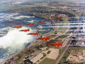 The Red Arrows over Niagara Falls, 1972