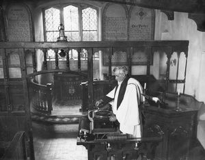 Rev Barham in Mardale Church