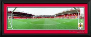 Bristol City FC Ashton Gate Goal Keepers View Framed Print