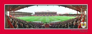 old/special editions/bristol city fc ashton gate match action framed