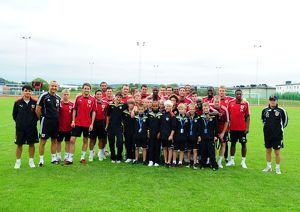 Bristol city first team with the academy