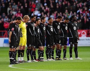 Bristol City players observe minutes silence