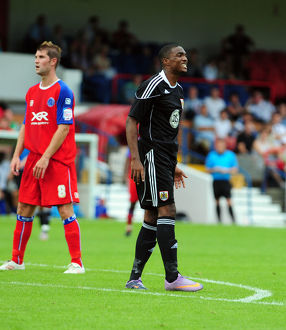 Bristol City's Marlon Jackson shows his frustration after going close
