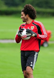 Bristol City's new signing and England's number one David James enjoys his