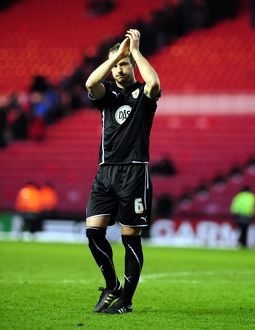 Captain Louis Carey thanks the travelling fans