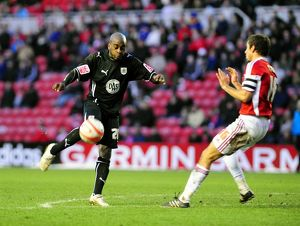 Jamal Campbell-Ryce goes close with an effort from the edge of the box