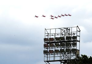 Red Arrows Fly over the EBB Stadium