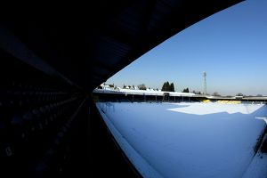 Southend United in the Snow - Roots Hall Stadium - 07/02/12