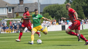 Bamber Bridge v PNE, Billy Bodin, Green kit (2)