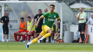 Bamber Bridge v PNE, Callum Robinson, Green kit (1)