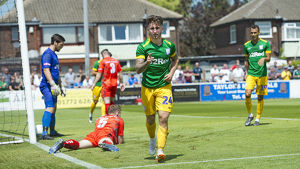 Bamber Bridge v PNE, Sean Maguire, Green Kit (3)