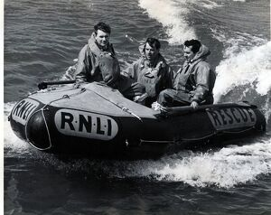 Aberystwyth. Early trials of D class inshore lifeboat.