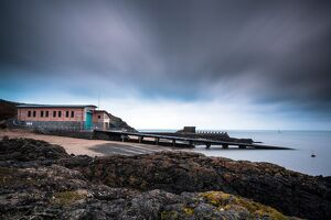 Landscape shot of Porthdinllaen lifeboat station