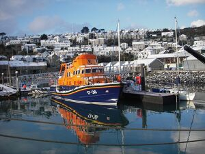 Penlee Severn Class Lifeboat 17-36 Ivan Ellen moored in Newlyn h