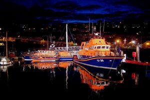 Penlee Severn Class Lifeboat Ivan Ellen at night