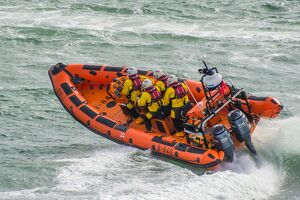 Portsmouth Atlantic 85 inshore lifeboat Norma T B-846 at sea