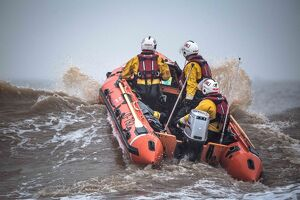 Skegness D-class inshore lifeboat Marie Theresa Bertha Barrass D-792 being launched