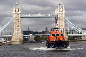Tamar class lifeboat Grace Dixon on the River Thames