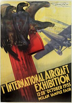 1st International Aircraft Exhibition Poster