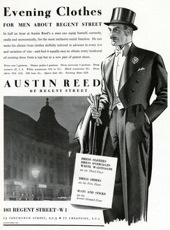Advert For Austin Reed Evening Clothes 1937 14263282 Framed Prints