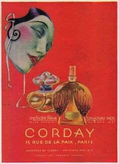 Advert for Corday perfume, 1920s