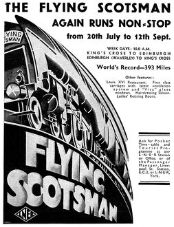 Ad for the Flying Scotsman