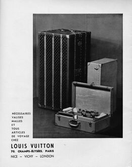 Advert for Louis Vuitton luggage, 1935, Paris