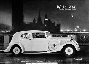 Advertisement for Rolls Royce Phantom II