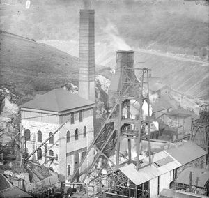 Aerial view of Tirpentwys Colliery, Pontypool, South Wales