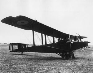 AFC Handley Page biplane at Haifa, Palestine, WW1