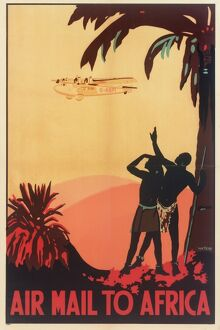 Air Mail to Africa Poster