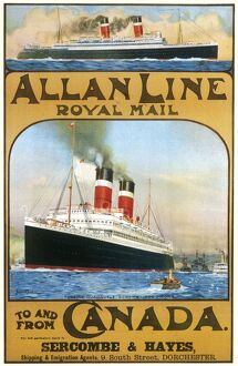 Allan Line to Canada poster