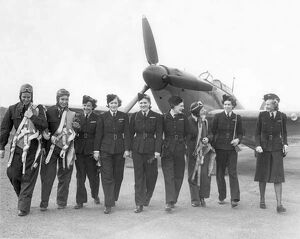 American and British members of the Air Transport Auxiliary