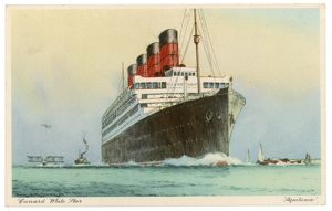 AQUITANIA IN FULL STEAM