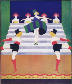 Art deco cover for Theatre World, April 1925
