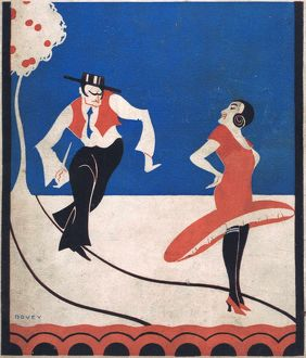 Art deco cover for Theatre World, May 1925