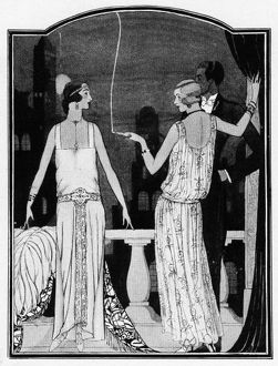 Art deco illustration of summer fashions 1923