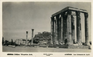 new images grenville collins collection/athens greece columns temple jupiter