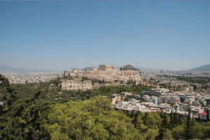 Athens. Panoramic view of the Acropolis