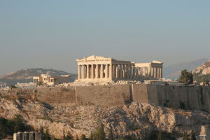 Athens. Panoramic view of the Acropolis. Parthenon