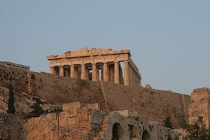 Athens. View of the Acropolis. Parthenon. Sunset