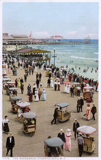 new images grenville collins collection/boardwalk atlantic city new jersey usa rolling