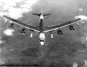 Boeing B-52H Stratofortress carrying two North American ?